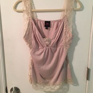 Sexy 2b Bebe lace trimmed tank/cami BNWT